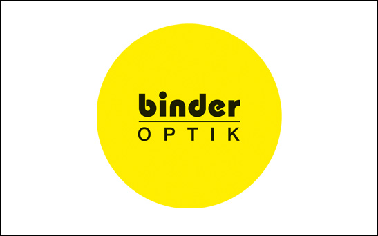 Binder Optik Logo gelb - Kunde von STEP Advertainment