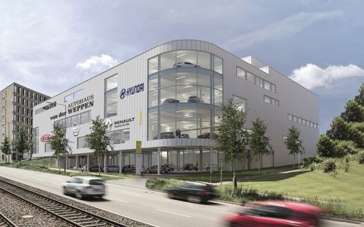 Autohaus von der Weppen Gebäude in Stuttgart - Kunde von STEP Advertainment